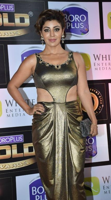 Yay or Nay? Debina Banerjee spotted in a shimmer drape saree gown at the Zee Cine Awards red carpet last night - SeenIt
