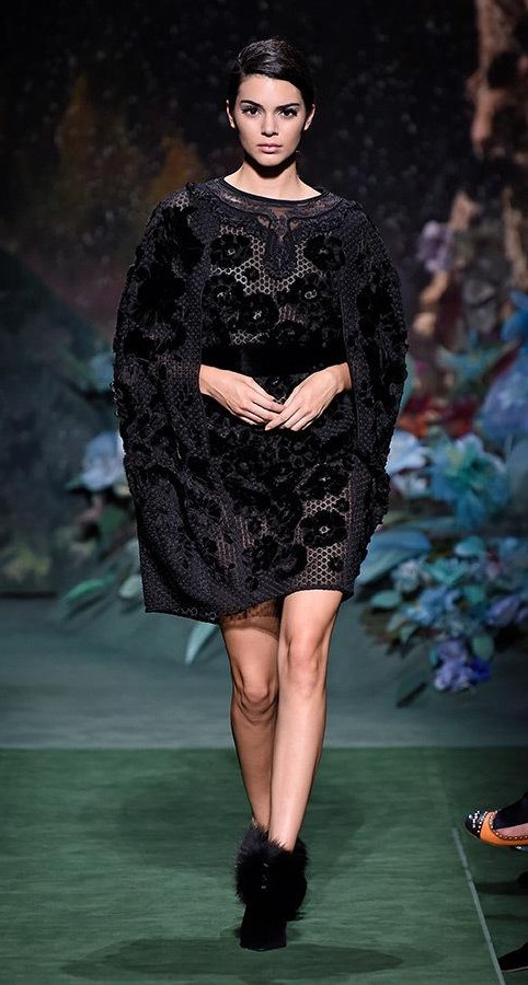 Yay or Nay? Kendall Jenner walks the ramp for Fendi's haute couture fall/winter collection at the Paris Fashion week - SeenIt