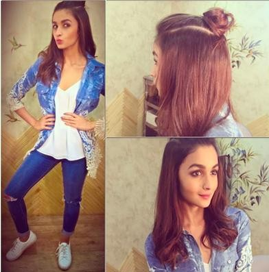 Looking for this lace denim jacket which Alia is wearing in the same shade.The SAME.Someone plz help.TIA. - SeenIt