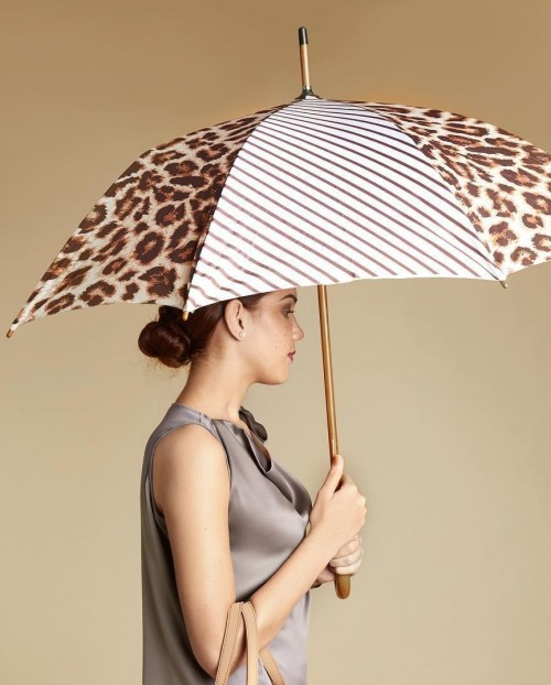Where can I find this animal printed and striped umbrella? - SeenIt
