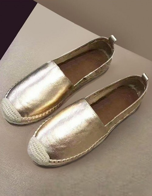 Help me find this golden espadrilles please. - SeenIt
