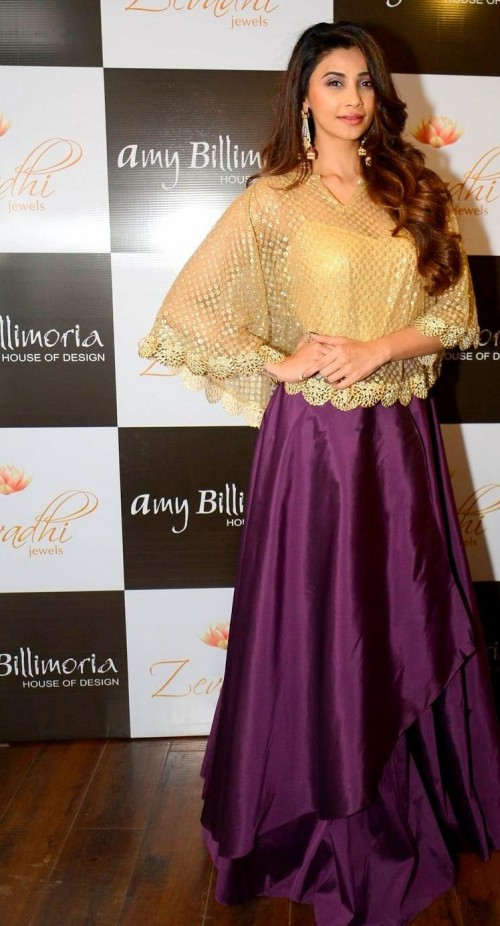 Want this gold and purple lehenga which Daisy Shah is wearing - SeenIt
