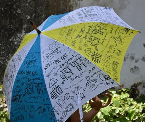 Where can i get such doodle umbrella? - SeenIt