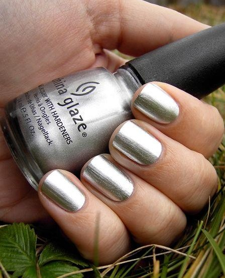 I am looking for a similar silver nail polish as seen on her. - SeenIt