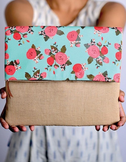 A similar beige and mint floral envelope clutch please!! - SeenIt