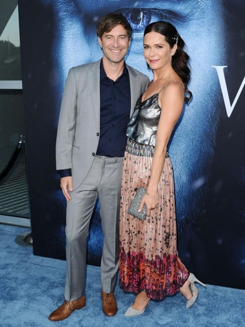 Yay or Nay? Mark Duplass and actress Katie Aselton attend the Season 7 premiere of Game of Thrones at Walt Disney Concert Hall - SeenIt