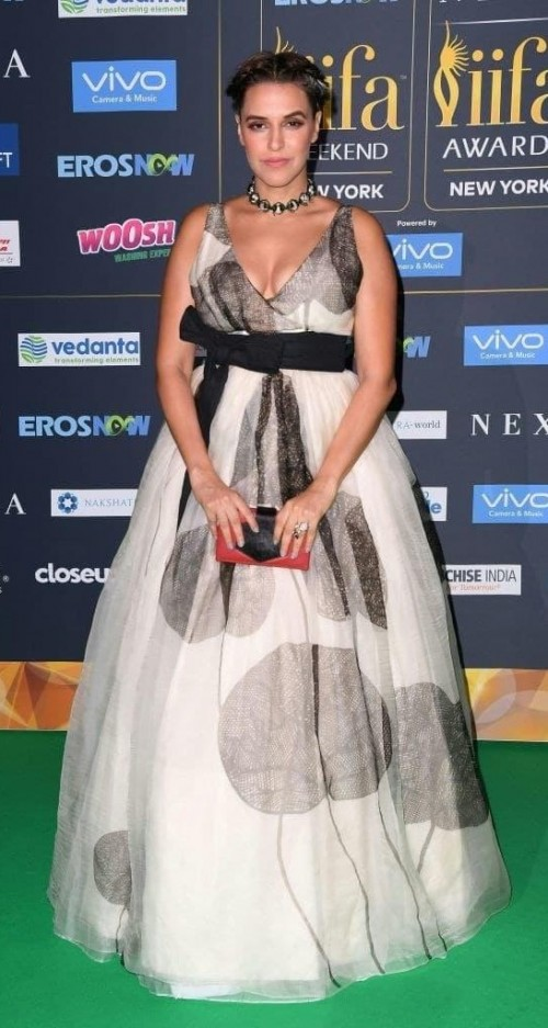 Yay or Nay? Neha Dhupia wearing a Sohaya tulle gown at the IIFA night in New York - SeenIt