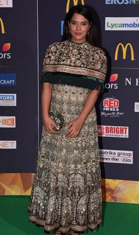 Yay or Nay? Richa Chadda wearing a green Tarun Tahiliani attire at the IIFA awards in New York - SeenIt