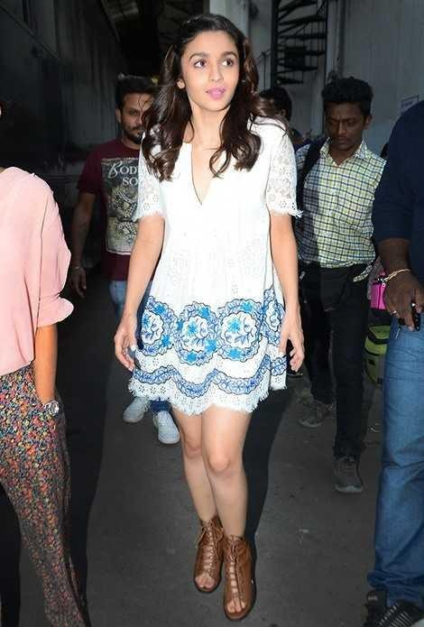 I am looking for same dress and shoes which alia bhatt is wearing - SeenIt