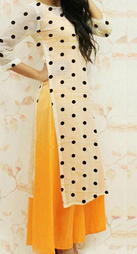 Looking for similar polka dot kurta - SeenIt