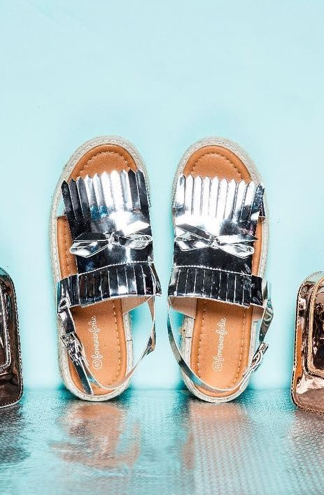 Looking for such metallic sandals since ages!! - SeenIt