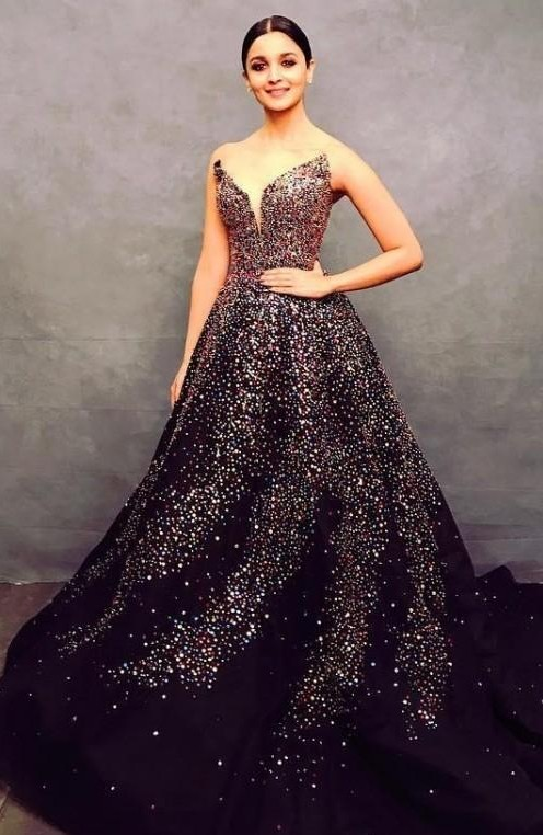 I'm looking for a similar dress with sequins like the one which Alia Bhatt is wearing - SeenIt