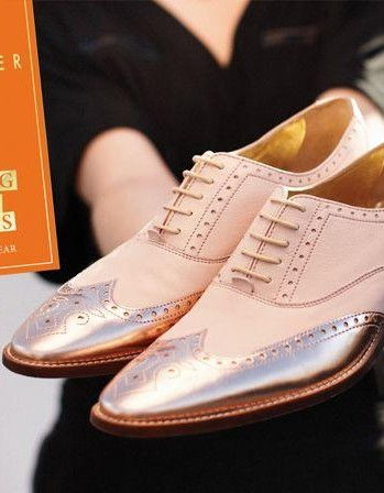 Help me find these white and metallic brogues online. - SeenIt