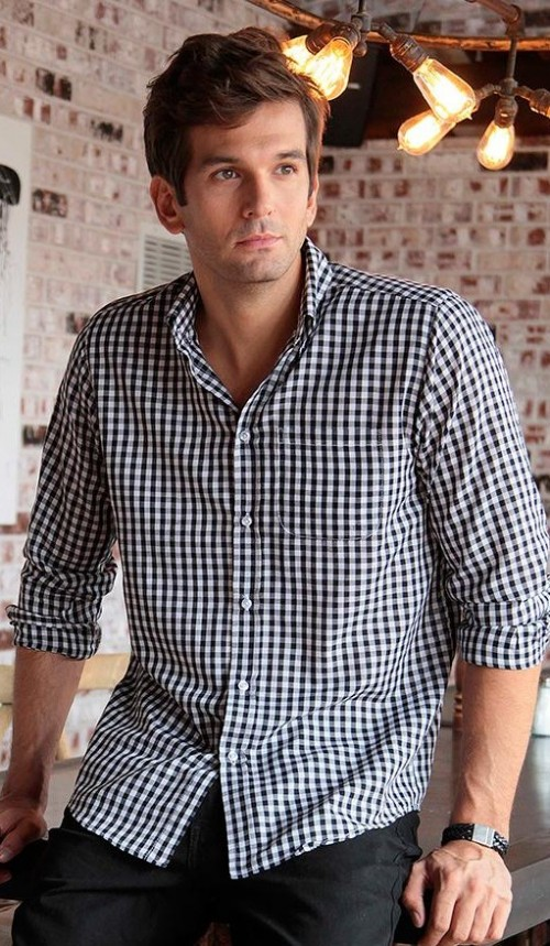 I want a similar gingham print shirt,help me? - SeenIt