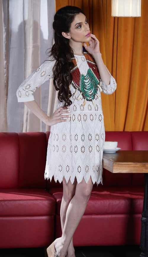 Looking for this white schiffli dress maiasethna is wearing. - SeenIt