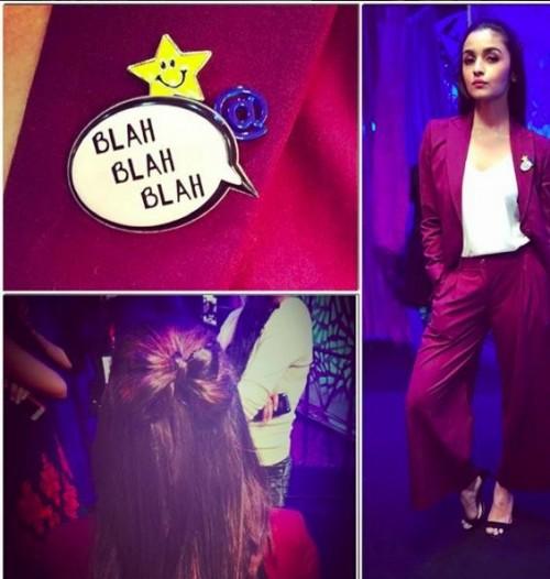 Looking for Alia's 'blah blah'badge.Domestic sites.Someone pls help.TIA. - SeenIt