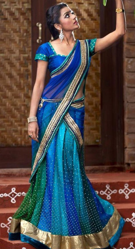 Need a half saree similar to this. - SeenIt