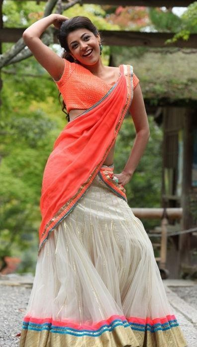 Want a similar half saree like Kajal Aggarwal is wearing. - SeenIt