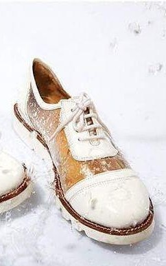 Need your help to find these transparent monsoon brogues online. - SeenIt