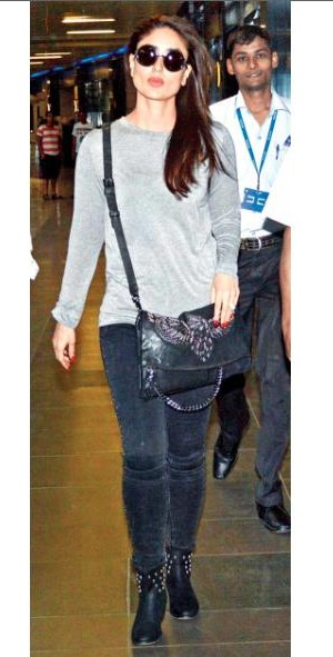 Want the black sling bag which Kareena Kapoor is carrying - SeenIt