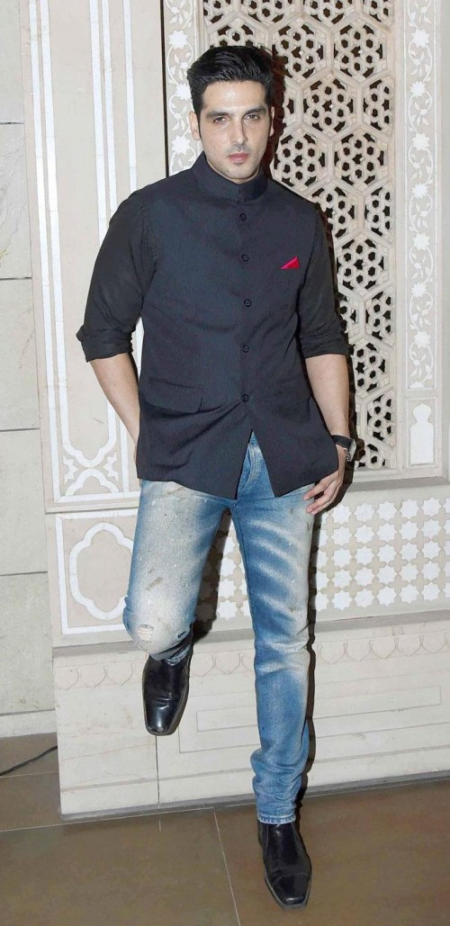 Yay or Nay? Zayed Khan spotted wearing a classic nehru jacket and denims during Manav Gangwani's fashion show during the India Couture Week held in Delhi - SeenIt