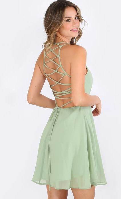 Want a similar skater backless dress - SeenIt