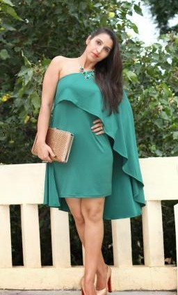 i am looking for a similar one shoulder turquoise dress and that clutch - SeenIt