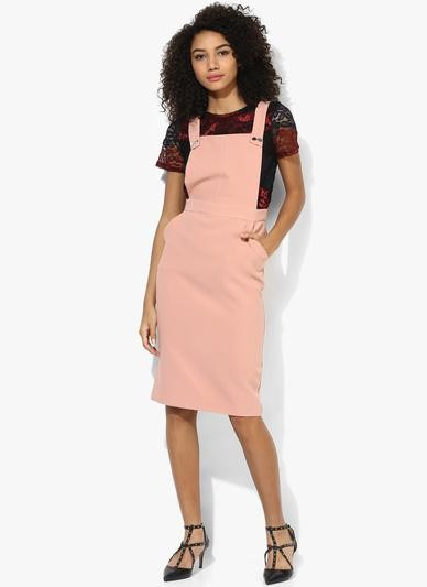 Looking for exact same peach solid pinafore dress - SeenIt