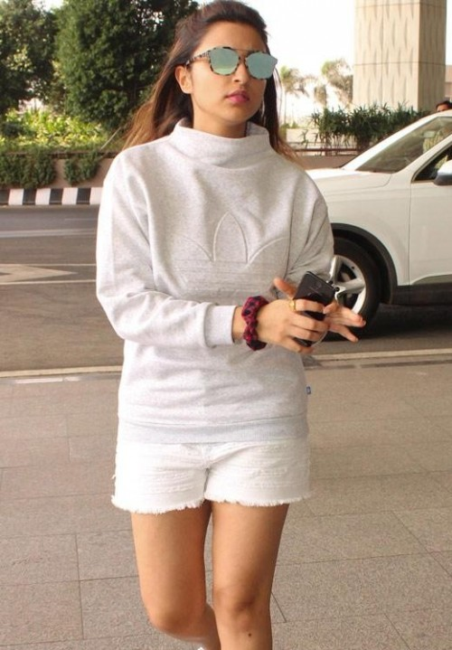 Looking for the grey top with white shorts as Parineeti Chopra is wearing - SeenIt