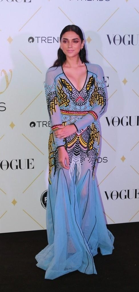Yay or Nay? Aditi Rao Hydari wearing a Basil Soda gown at the Vogue Beauty Awards 2017 last night - SeenIt