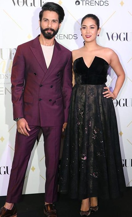 Yay or Nay? Shahid Kapoor and Mira Rajput spotted at the Vogue Beauty Awards last night - SeenIt