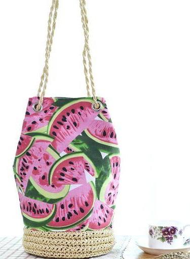 Help me find this watermelon printed bucket bag... - SeenIt