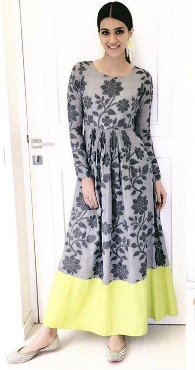 Yay or Nay? Kriti Sanon wearing a Debashri outfit at the promotions of her upcoming movie Bareily ki Barfi - SeenIt