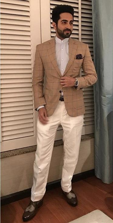 Can you help me find a similar plaid blazer online like Ayushman Khurana is wearing for his movie Bareilly ki Barfi promotions - SeenIt