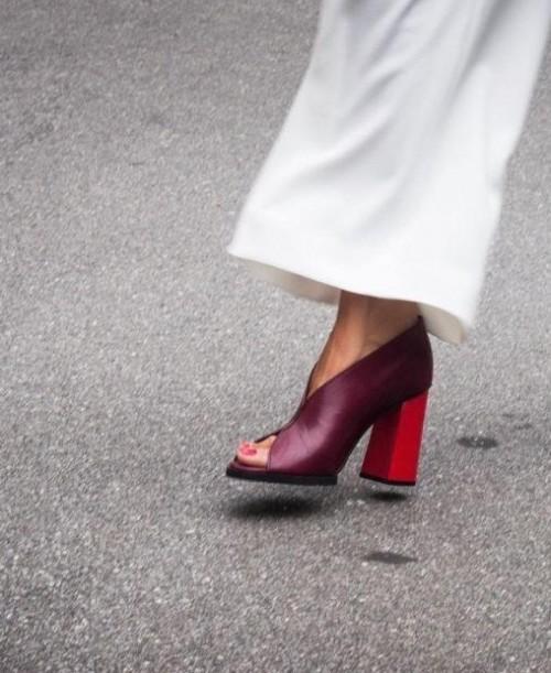 Help me find these maroon block heels - SeenIt