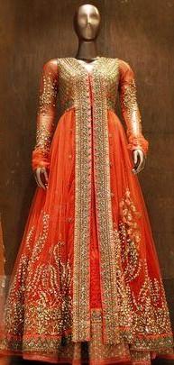 I'm looking for a similar orange embroidered lehenga - SeenIt
