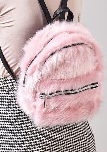 I am looking for a similar pink fur backpack - SeenIt