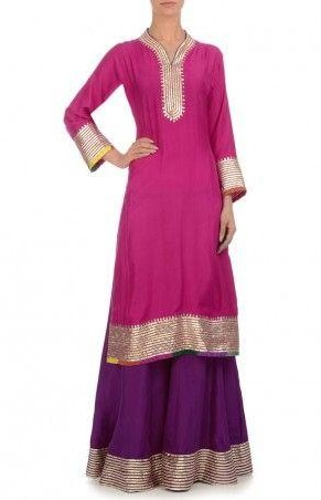 Yay or Nay for this hot pink and purple sharara suit? - SeenIt