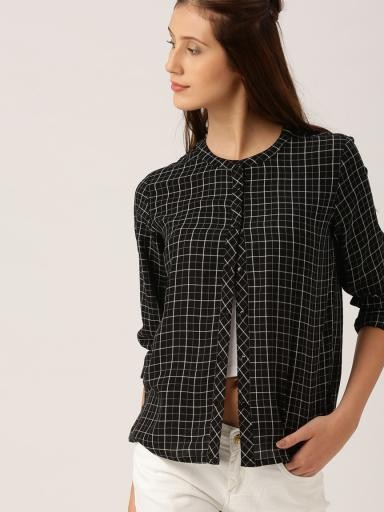 i am looking for similar check shirt...black n white lines - SeenIt