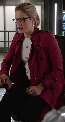 Felicity's burgundy trench coat is what i want - SeenIt