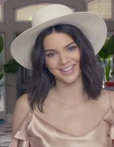 Kendall Jenner's white hat from 73 Questions with Vogue please - SeenIt