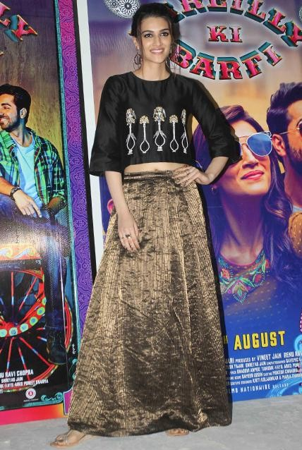 30391b484d Kriti Sanon spotted wearing a skirt and top outfit at the promotions