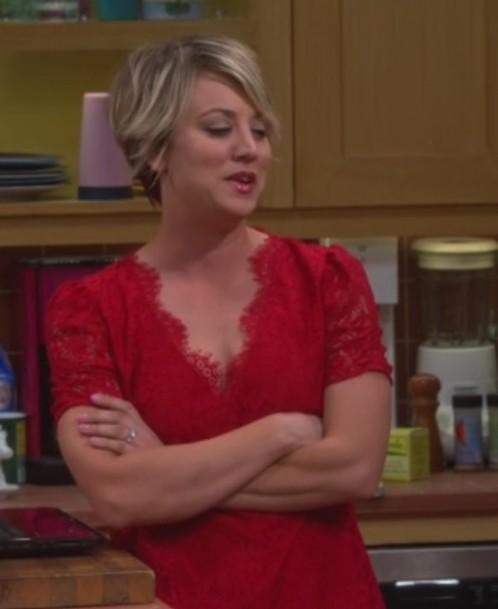 Want the Red lace top which Penny is wearing - SeenIt
