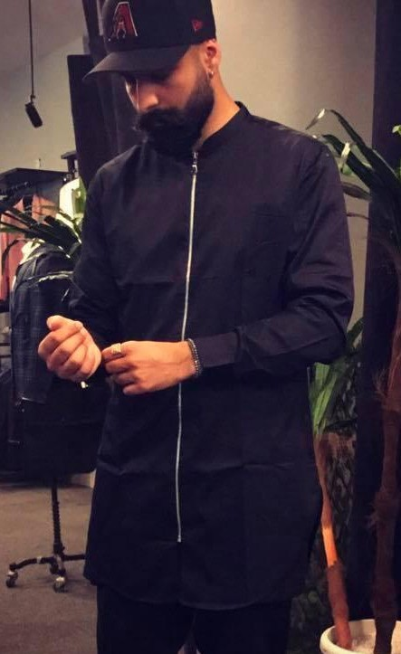 Can you help me find this black front zipper shirt? - SeenIt