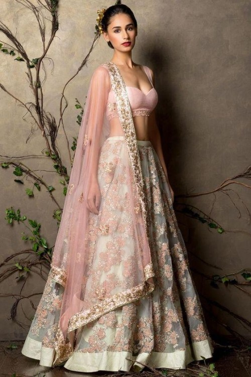 Want a similar pink embroidered lehenga - SeenIt