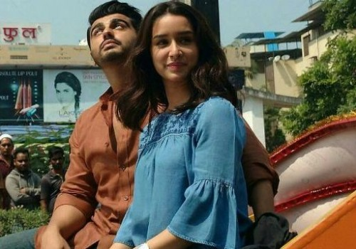 Looking for the same blue, embroided bell sleeved top which Shraddha Kapoor is wearing - SeenIt