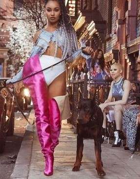 Can someone help me find the exact same boots of any colour Leigh-Anne was wearing in the Power music video? - SeenIt