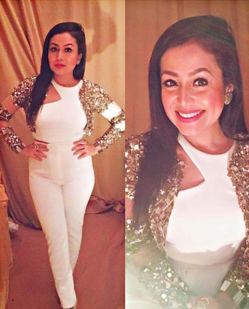 White jumpsuit which neha kakkar is wearing. - SeenIt