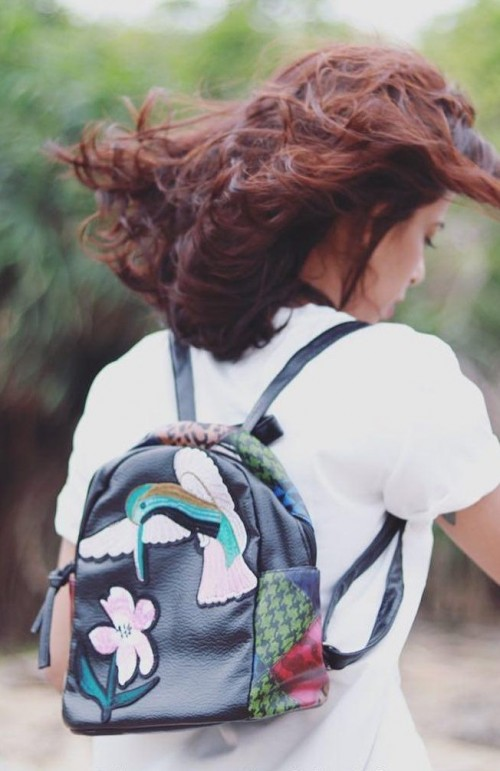 Need this black bird embroidered back pack.. - SeenIt