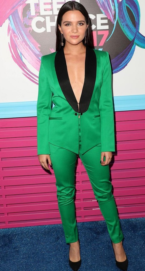 Yay or Nay? Katie Stevens in this green suit at the Teen Choice Awards - SeenIt